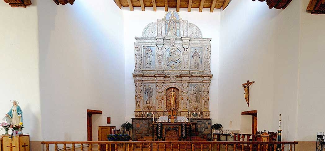 Inside Cristo Rey Catholic Church in Santa Fe, New Mexico