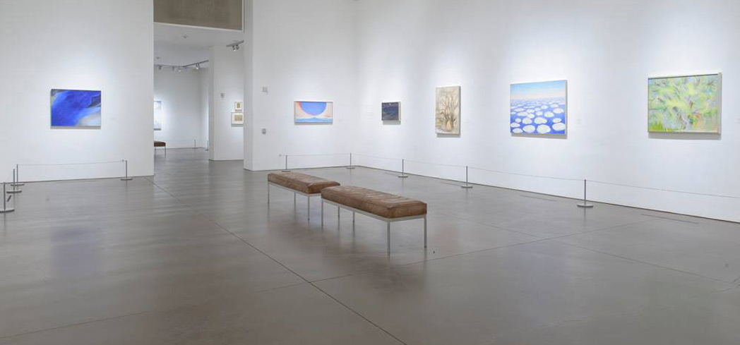 An exhibit at the Georgia O'Keeffe Museum in Santa Fe