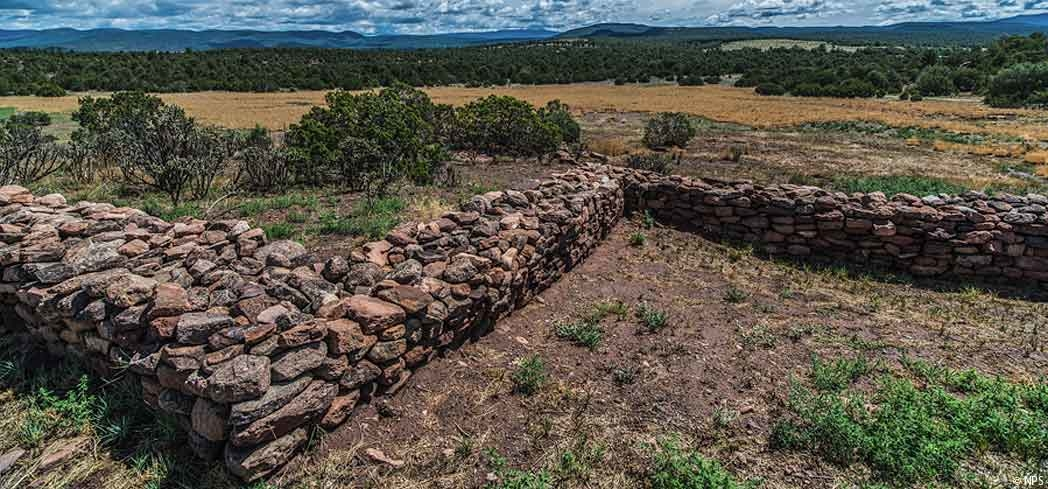 The landscape surrounding Pecos National Historical Park in New Mexico