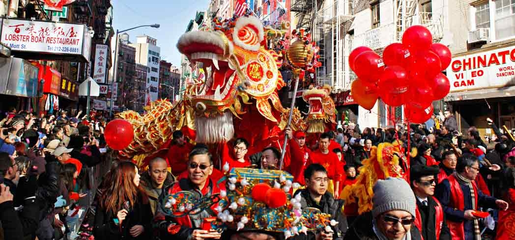 A Chinese New Year celebration in Chinatown