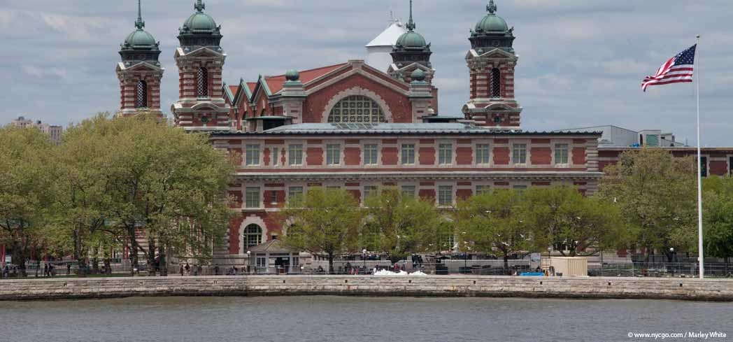 A view of the Immigration Museum on Ellis Island