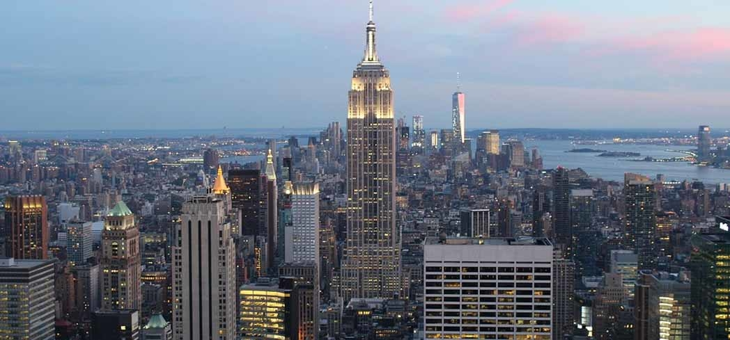 The Empire State Building stands tall among New York City's other skyscrapers