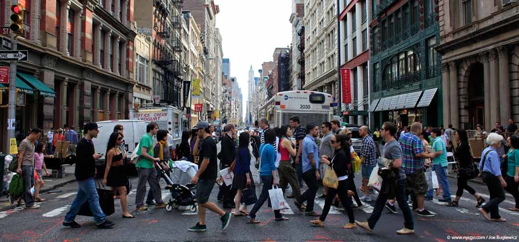 The crowds in New York City's SoHo