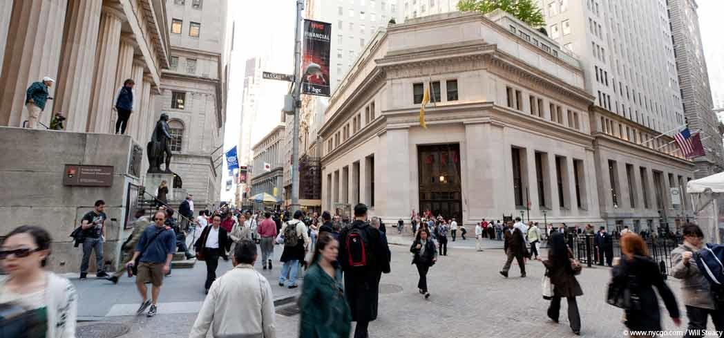 People on Wall Street in New York City
