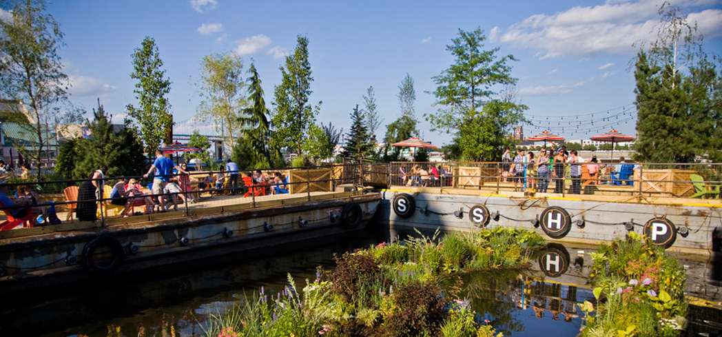 Spruce Street Harbor Park in Society Hill