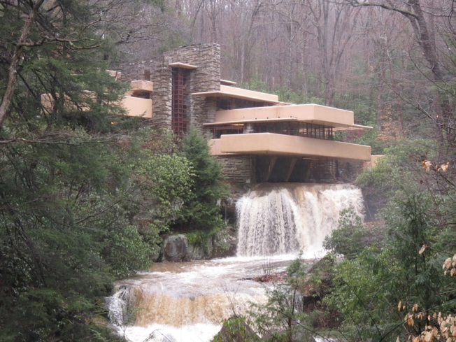 Take in the rural scenery surrounding Fallingwater in Mill Run, Pennsylvania