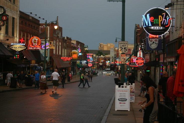 Check out the bars and nightclubs on Beale Street in Memphis