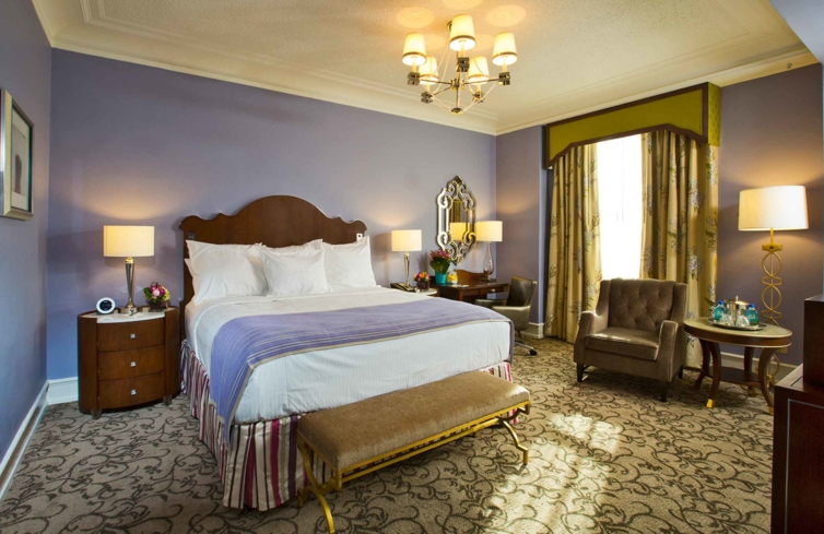 A Deluxe King Guest Room at The Peabody Memphis