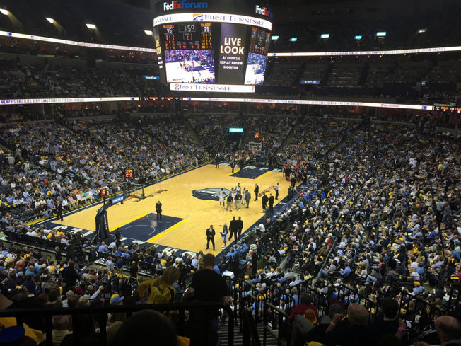 A Memphis Grizzlies basketball game at FedEx Forum