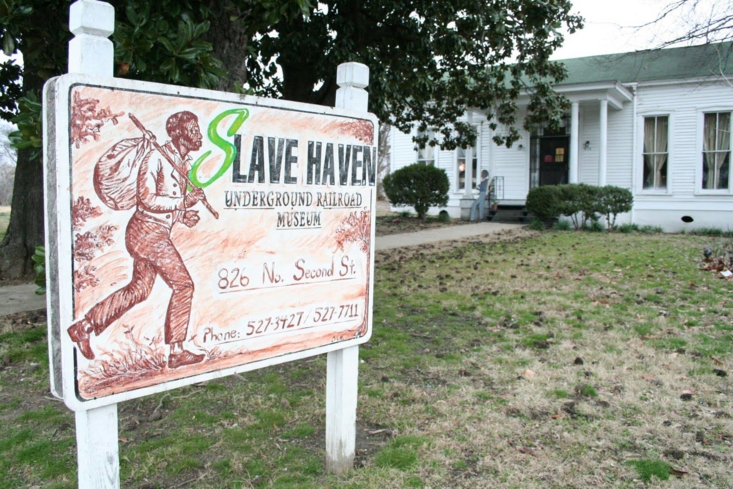 The exterior of the Slave Haven Underground Railroad Museum