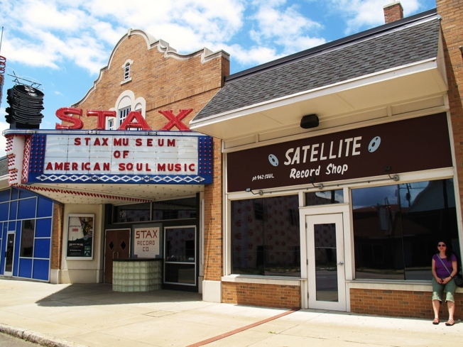 The exterior of the Stax Museum of American Soul Music