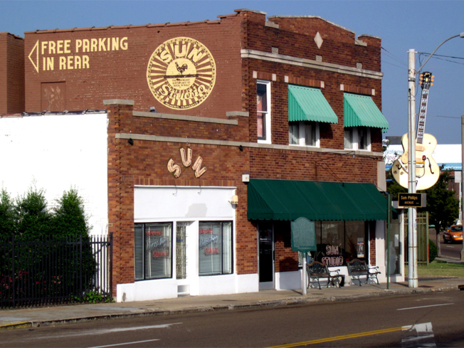 A view of Sun Studio in Memphis, Tennessee