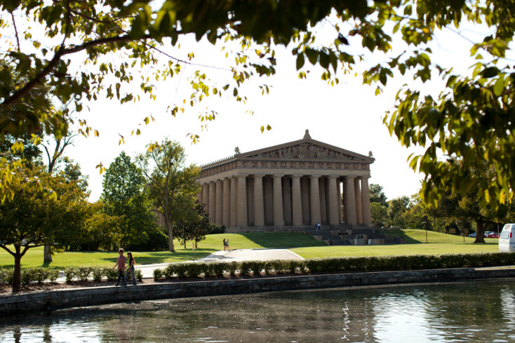 An exterior view of The Parthenon in Nashville
