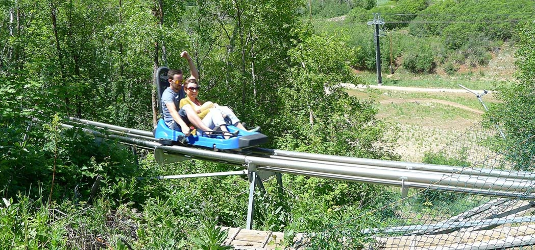 The Alpine Coaster at the Park City Mountain Resort takes you down nearly 4,000 feet of exhilarating curves