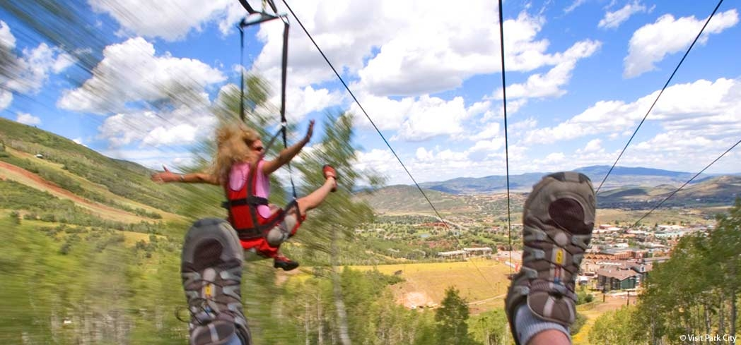 Canyons Resort Zip Line flies you 2,111 feet across a deep gorge