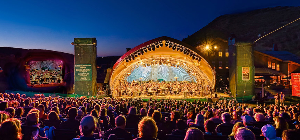 Deer Valley's Snow Park Outdoor Amphitheater is a great venue for outdoor concerts and performances