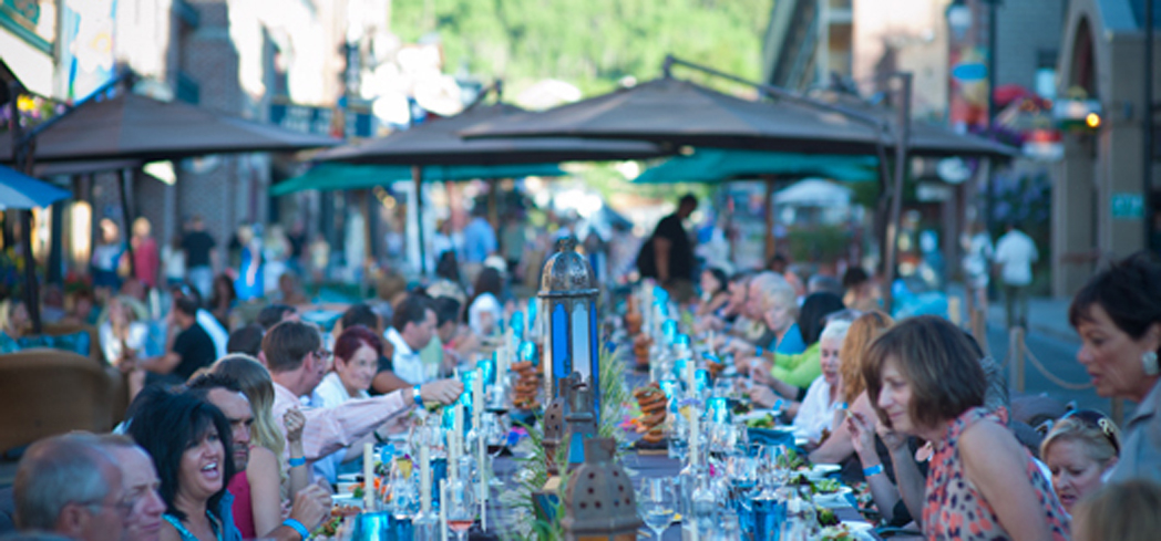 "Savor the Summit is billed as the area's ""longest dinner party"""