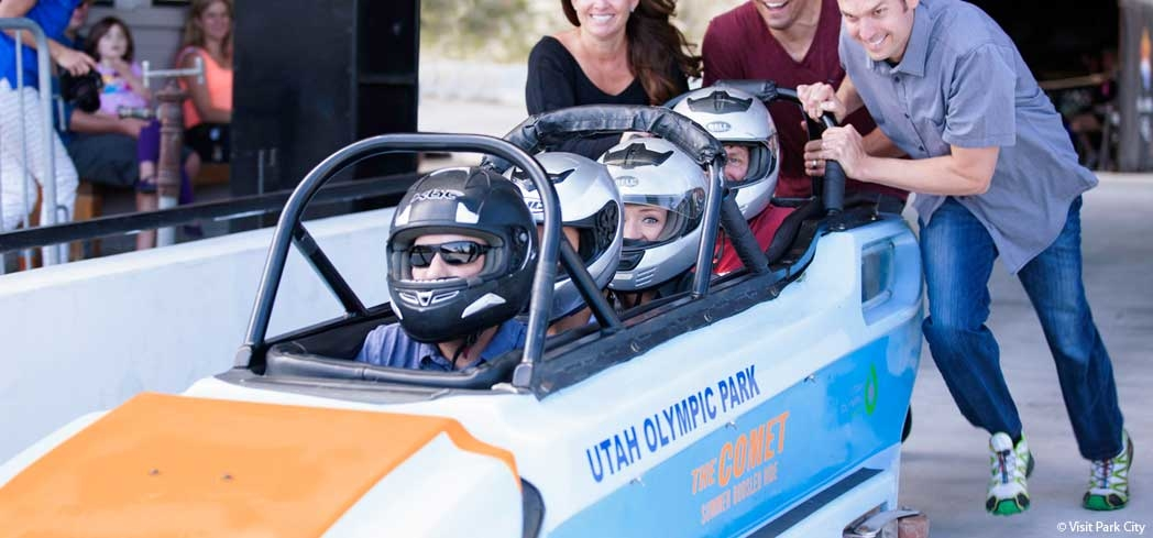The Summer Comet Bobsled Ride at Utah Olympic Park is an experience to remember