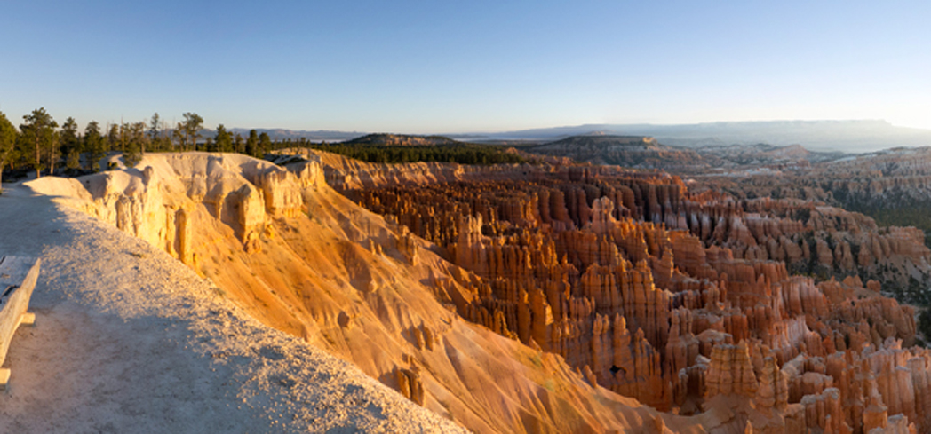 Bryce Canyon National Park has vibrant red rock structures and spires that are hundreds of feet tall