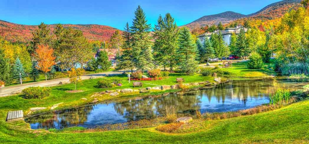 The verdant scenery of Stowe, Vermont