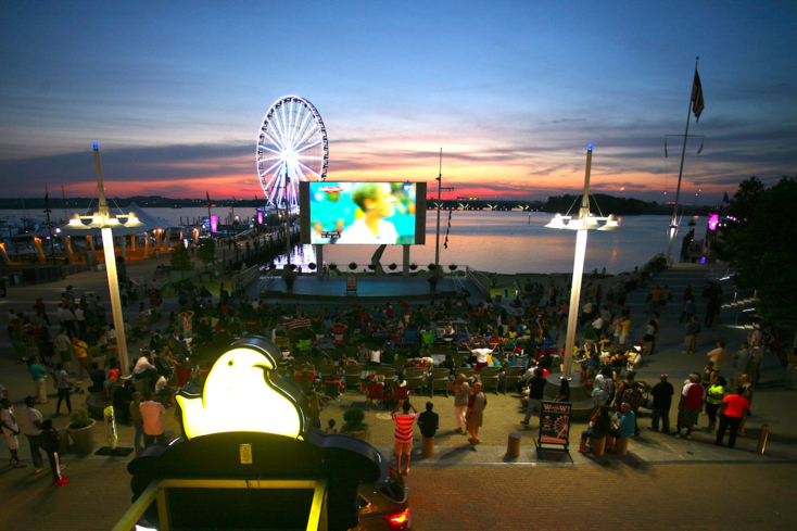 "Enjoy ""Movies on the Potomac"" during the summer at National Harbor"