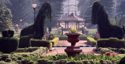 The LalBagh Botanical Gardens in Bangalore