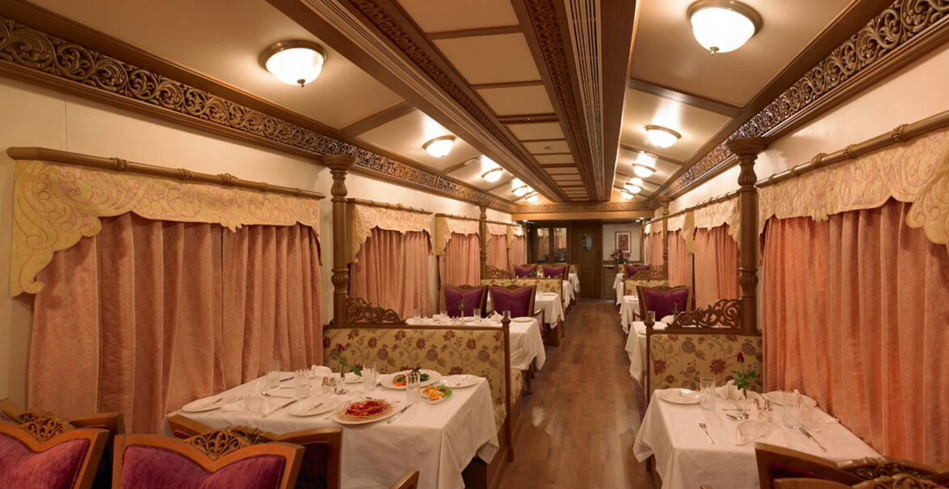 The Nakpaka Restaurant on board the Golden Chariot