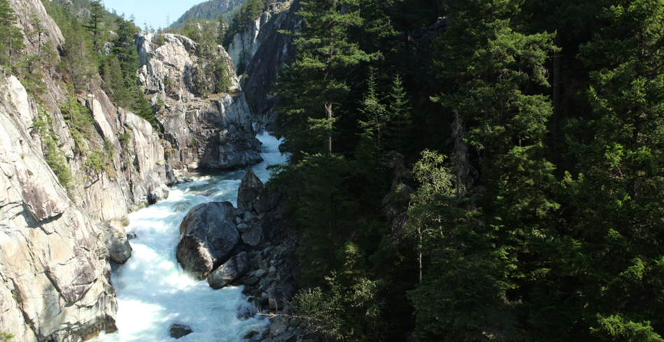 Cheakamus Canyon between Vancouver and Whistler