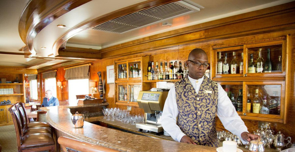 The bar on The Blue Train