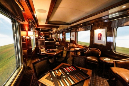 The car lounge on The Blue Train
