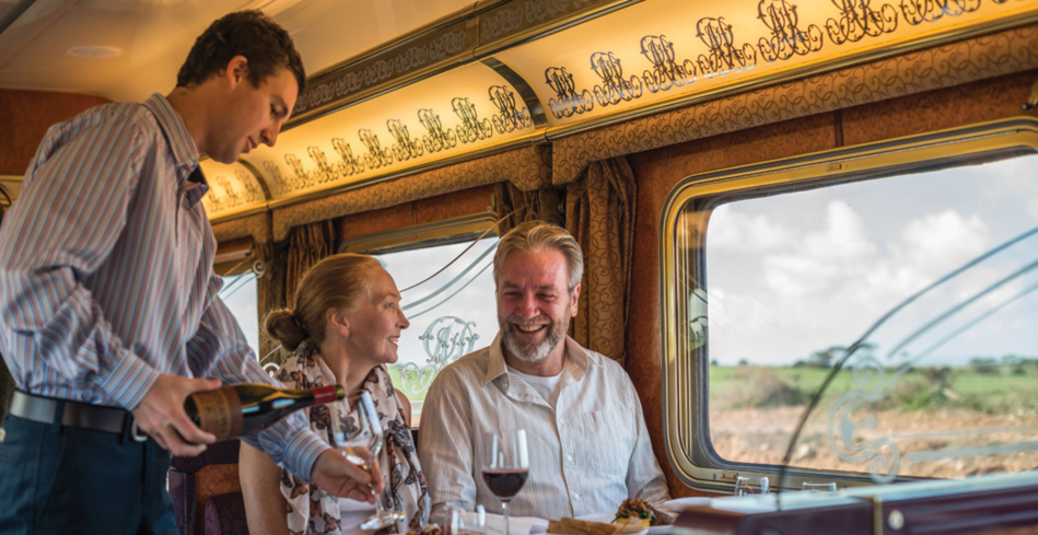 The Ghan's Queen Adelaide Restaurant at dinner