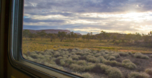 The scenery from The Ghan