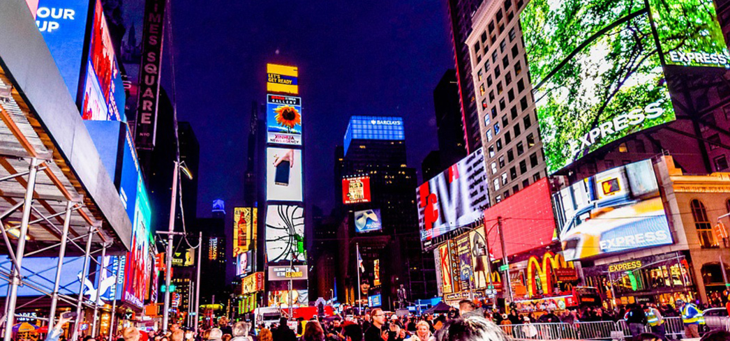 Thousands flock to Times Square in New York City to witness the famous ball drop