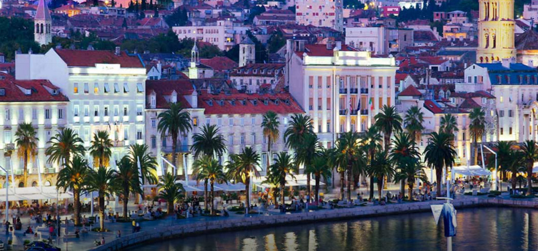 Evening in Split, Croatia, one of GAYOT's Top 10 Romantic Destinations in the World