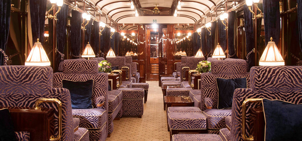Explore new terrain aboard a luxury train