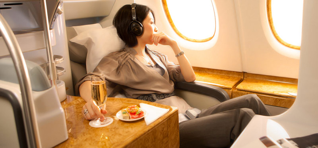 Fly Business Class in luxury with Emirates, one of GAYOT's Top 10 Business Class Airlines