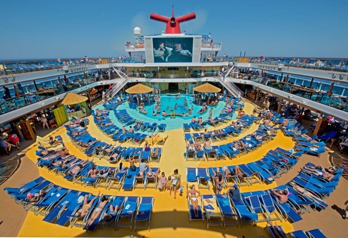 Bask in the sun on the Carnival Cruise Line