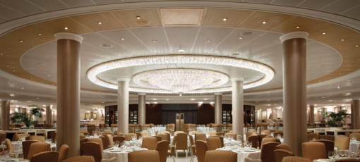 The Grand Dining Room onboard the Oceana Riviera, one of GAYOT's Top 10 Cruises for Specialty Dining