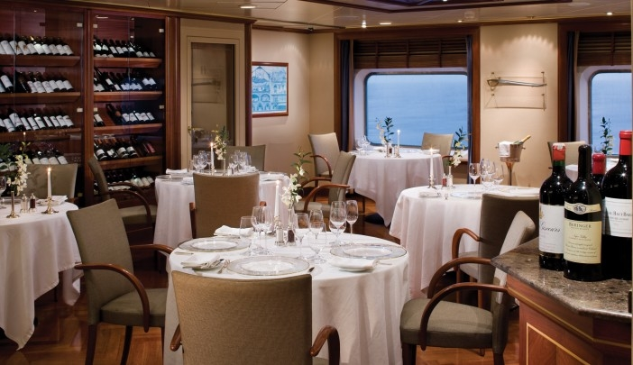 Silversea's Le Champagne by Relais & Châteaux is the only wine restaurant at sea