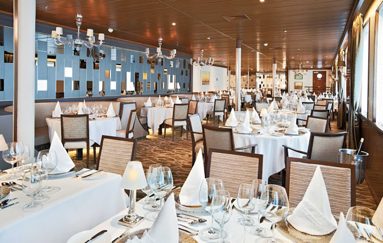 Enjoy gourmet cuisine crafted by executive chef Michael Sabourin at Windstar Cruises' AmphorA restaurant