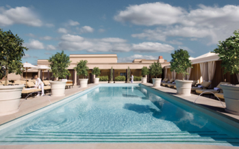 The rooftop spa pool at Montage Beverly Hills