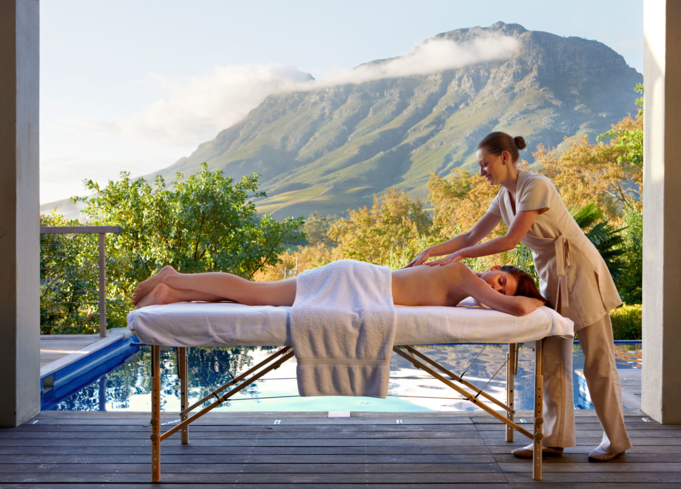 A massage at Delaire Graff Spa