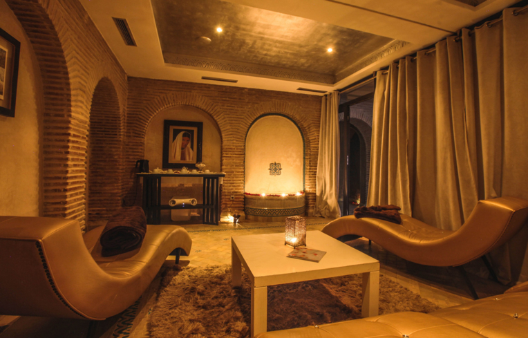 A treatment room at Hivernage Spa by Terrake