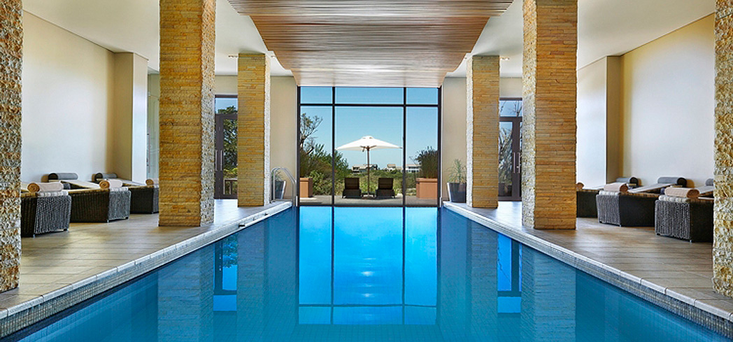 The indoor heated pool at Pezula Spa & Gym