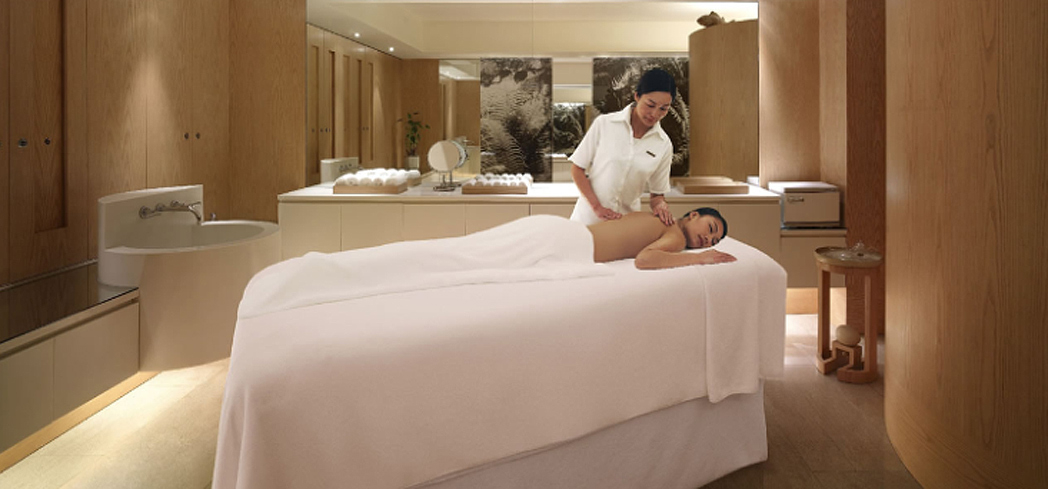 A treatment room at Plateau Spa