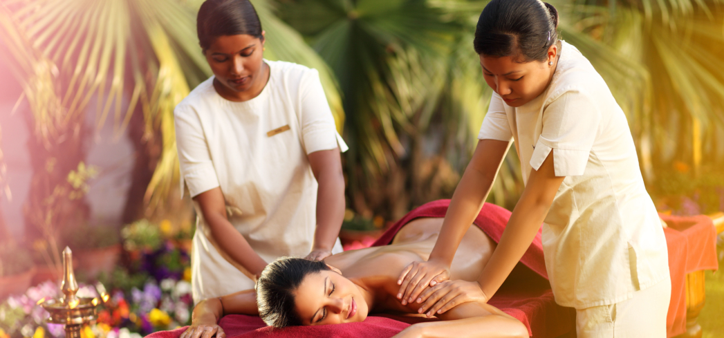 An Abhyanga massage at Ananda Spa