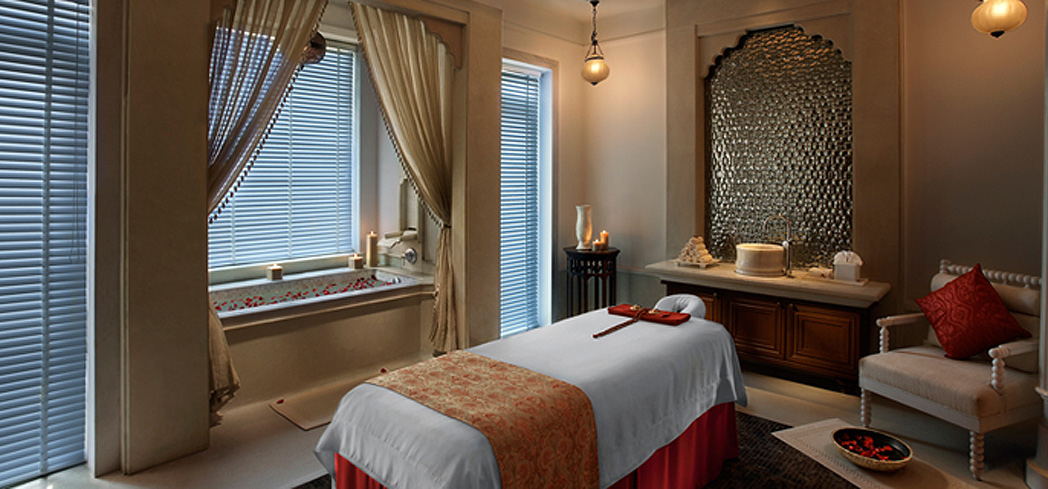 A treatment room at the  Kaya Kalp - the Royal Spa