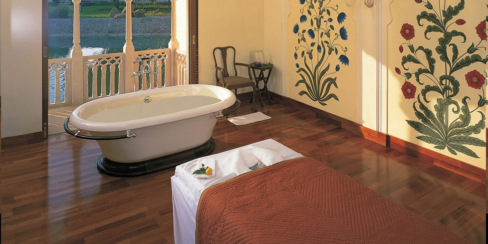 A specialty bath at The Oberoi Vanyavilas Spa