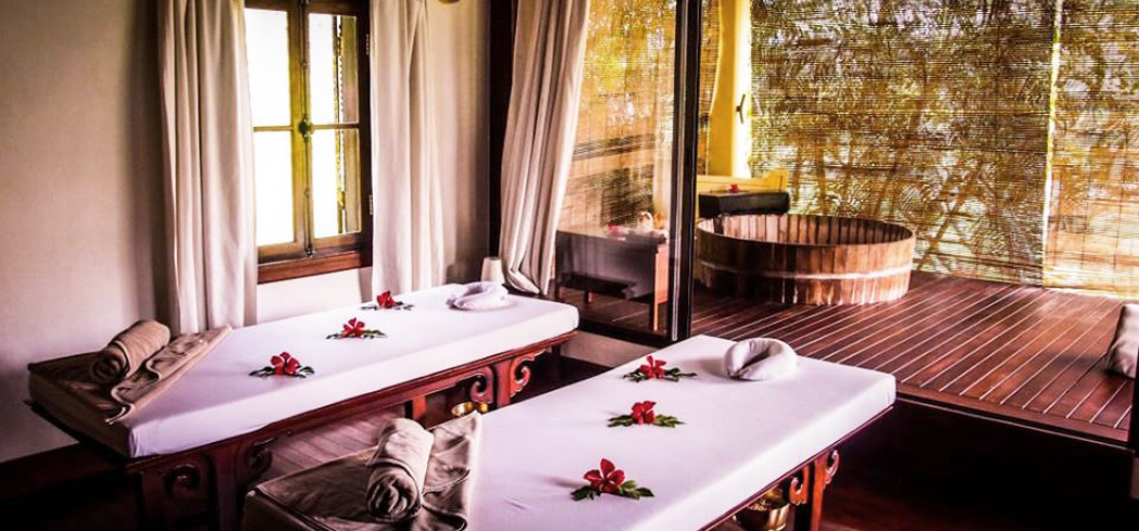 A treatment room at the Mekong Spa at La Residence Phou Vao