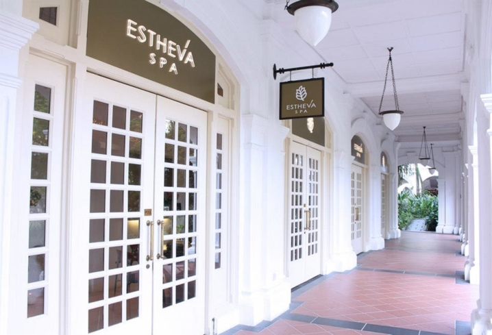The entrance to Estheva Spa in Singapore